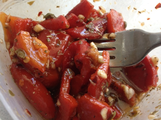Olas & Chanclas | Marinated Roasted Peppers